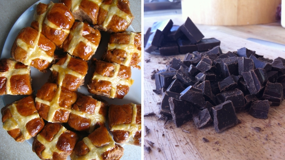 Chocolate hot cross bun recipe