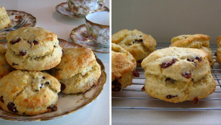 Easy scone recipe with cranberries