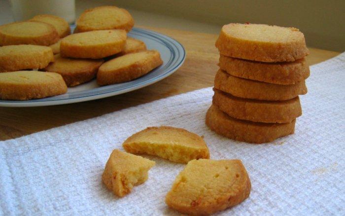 Easy lemon shortbread cookies.