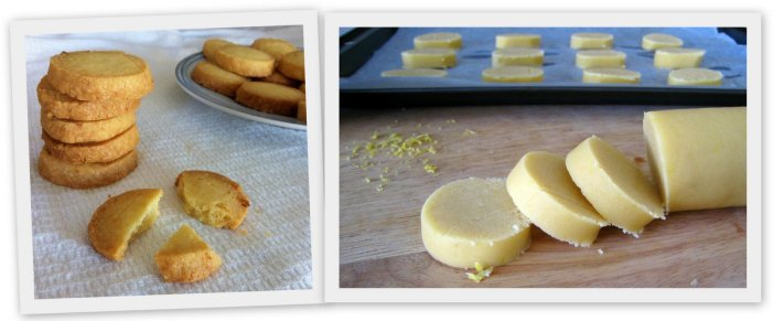 Easy lemon shortbread cookies.
