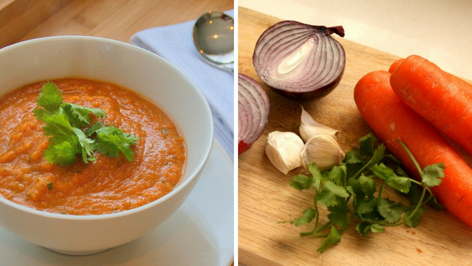 Carrot soup recipe with coriander