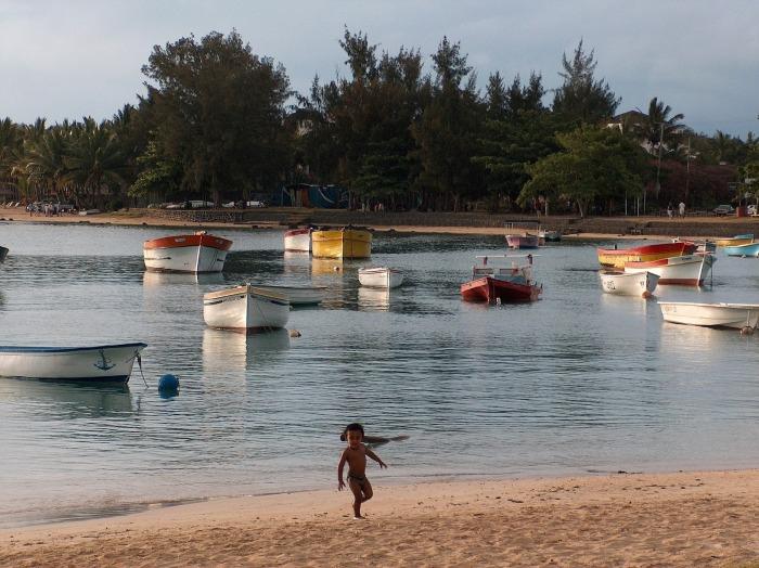 A beach in Grand Baie Mauritius