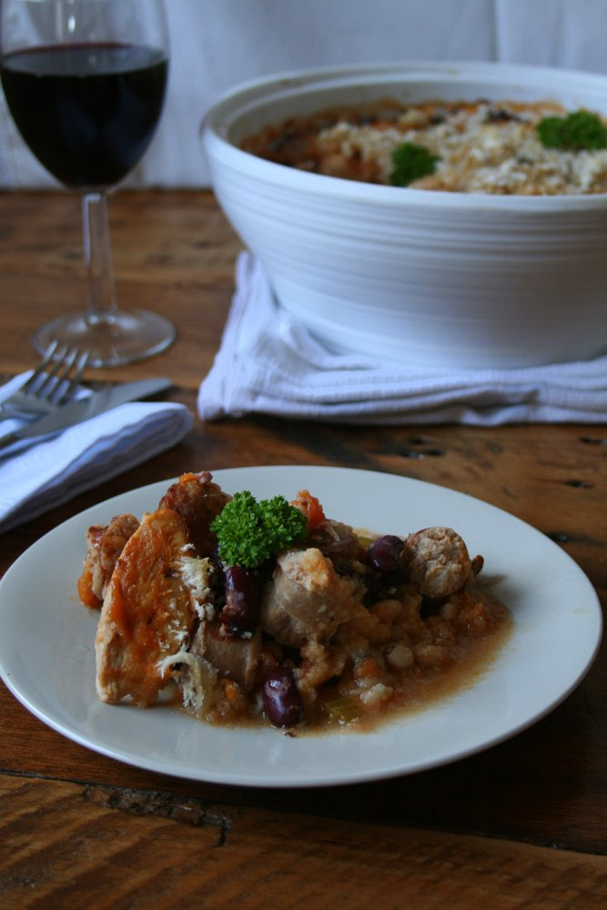 Chicken cassoulet recipe with sausage