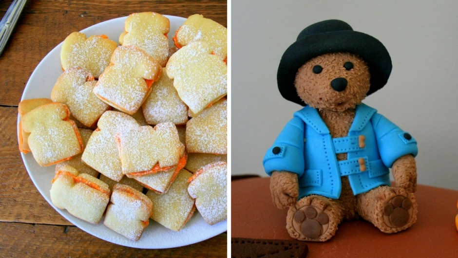 Paddington bear party cookies