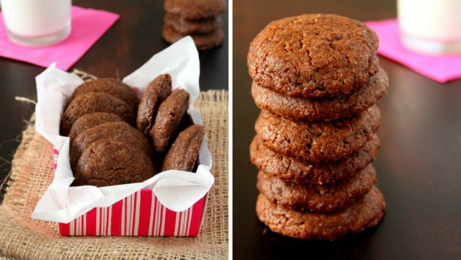 Easy double chocolate chip cookie recipe.