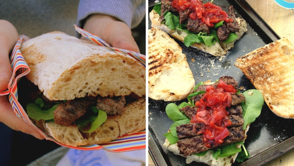 Steak sandwich and chutney recipe