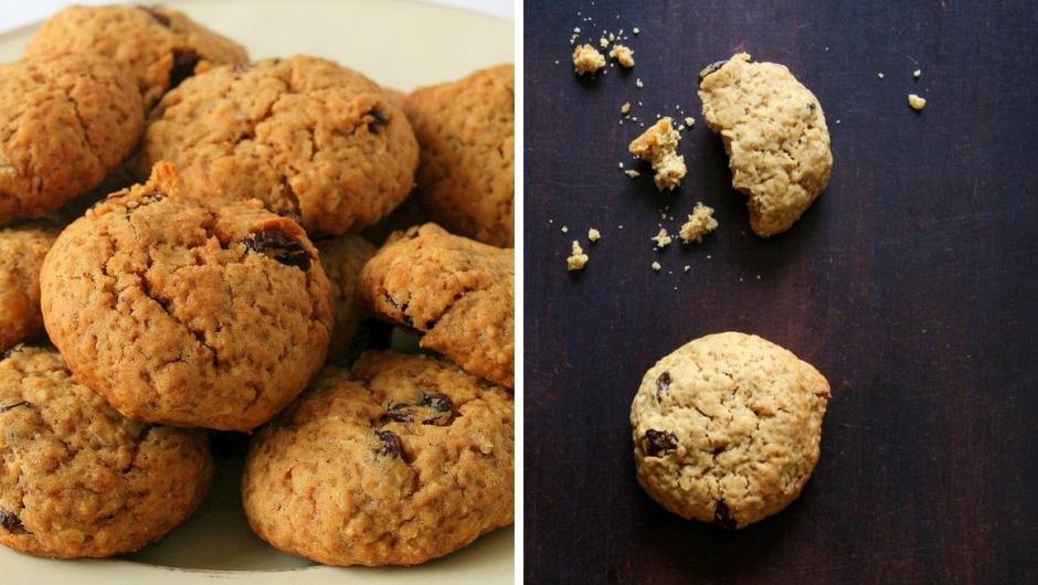 Oat cookie recipe with raisins