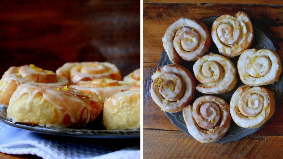 Triple lemon iced sticky buns by Jessica Creed