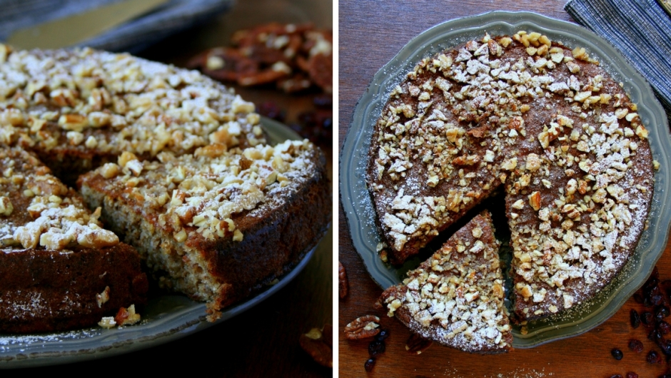 How to make a walnut cake.