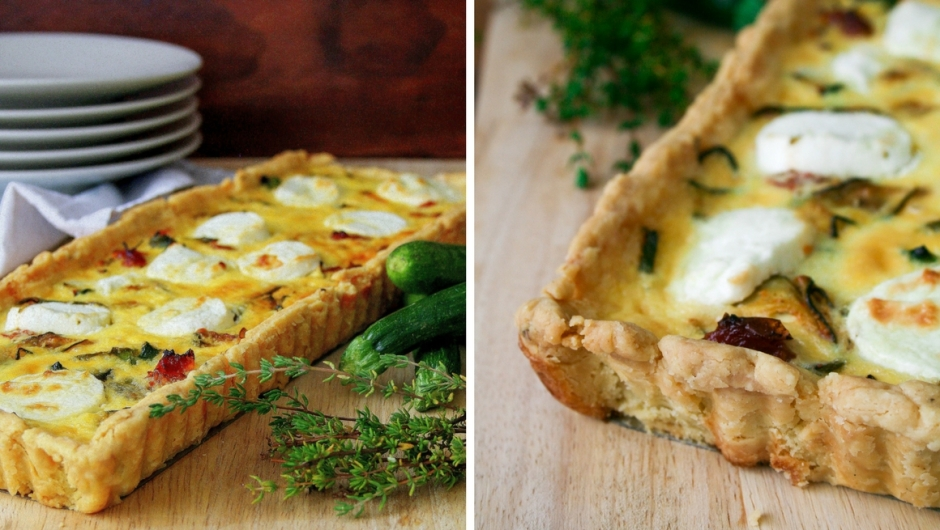Baby marrow tart recipe.