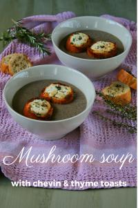 Mushroom soup with masala wine.