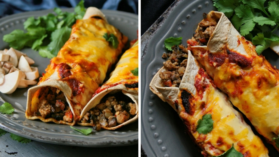 Pork enchiladas recipe with mushrooms