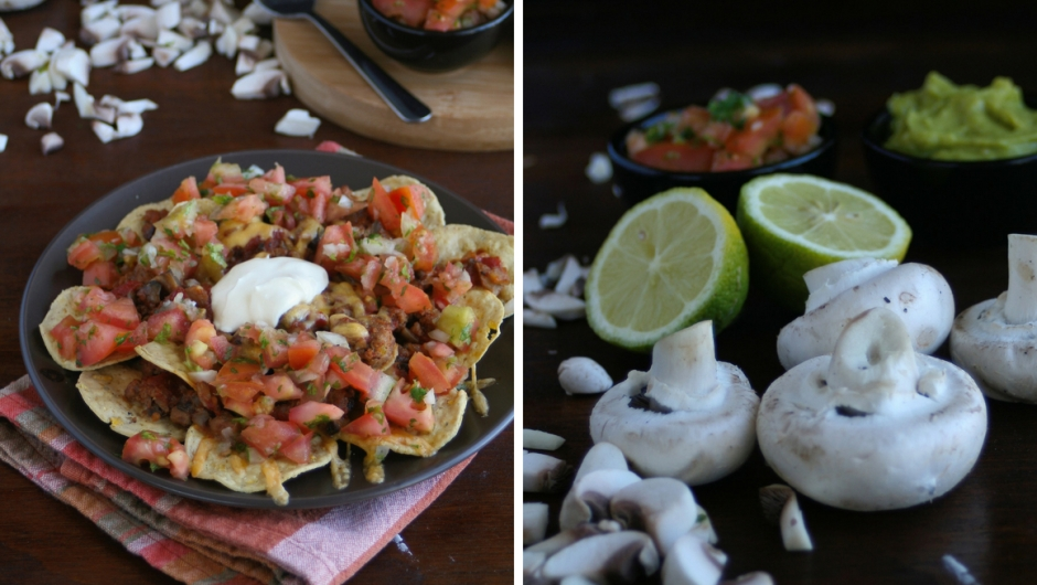 Beef and mushroom nachos recipe