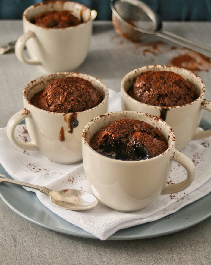 Easy saucy chocolate and coconut puddings.