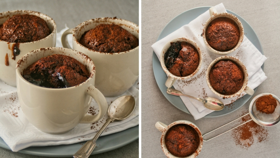 Self saucing chocolate pudding recipe.