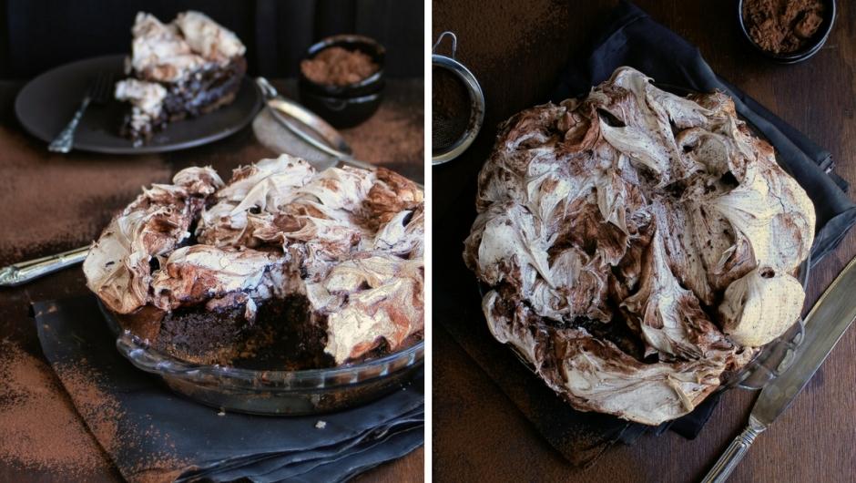 Chocolate and meringue pie.