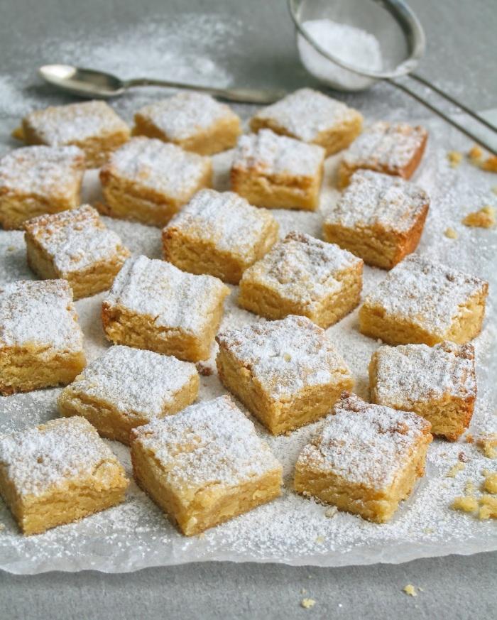 Almond tart squares.
