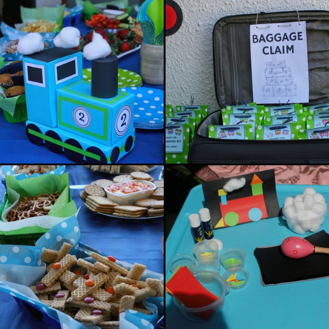 Food and decor ideas for a train party.