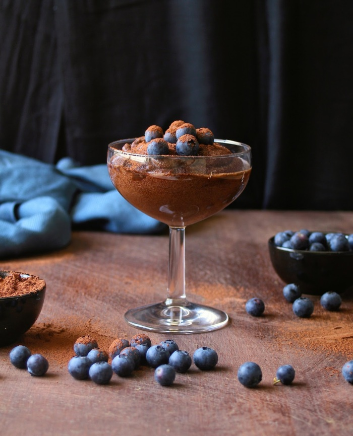 Sugar free gluten free chocolate mousse,