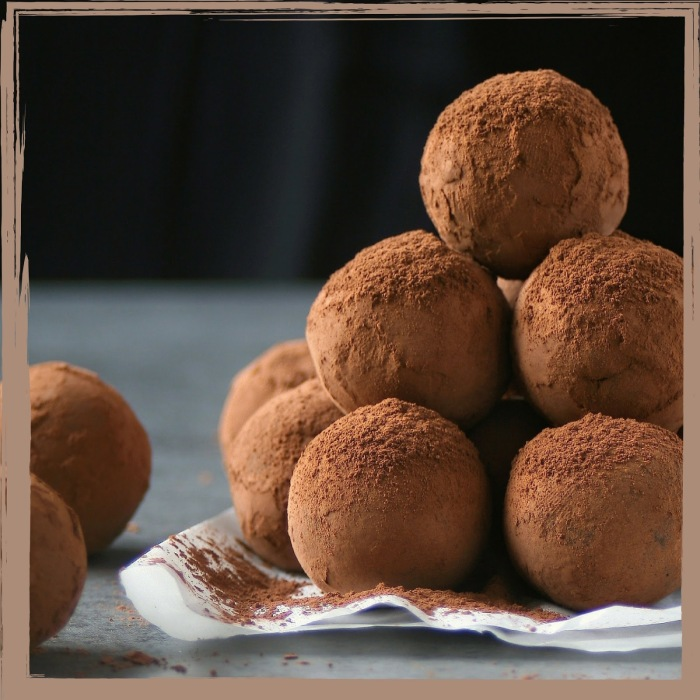 Salted caramel chocolate truffles.