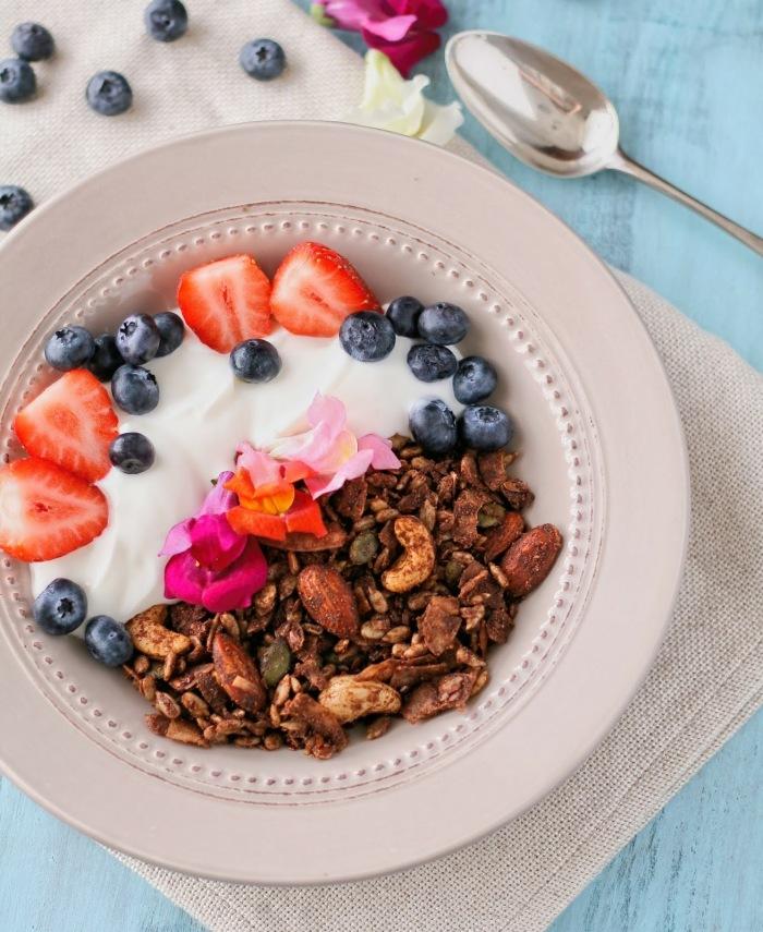 Sugar free granola with nuts