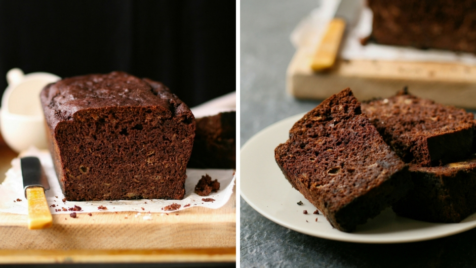 Gluten free sugar free chocolate banana bread recipe