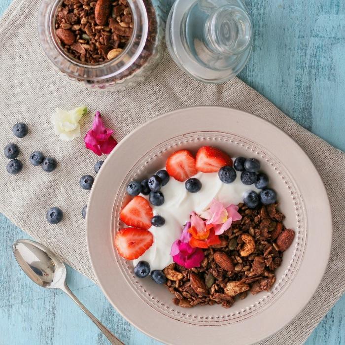 Sugar free and low carb granola