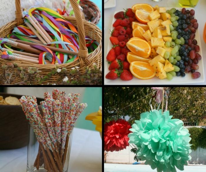 Rainbow birthday party ideas.
