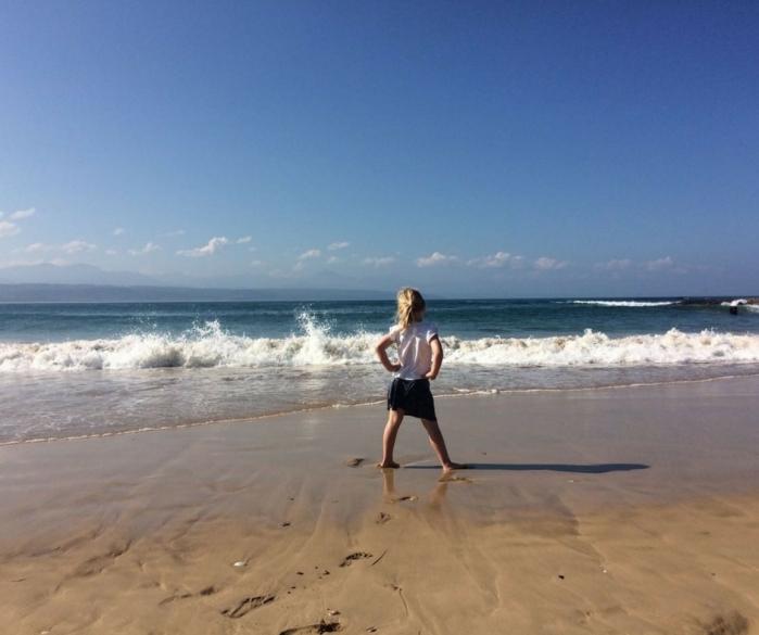 Girl watching the sea.