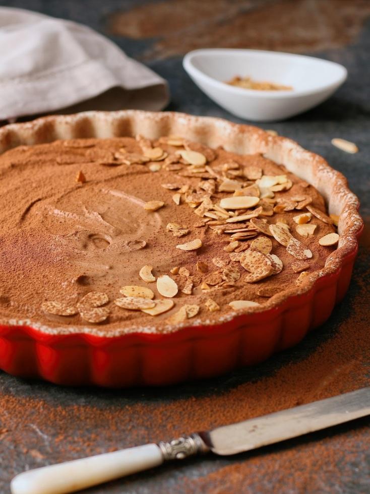 No bake chocolate mousse tart.
