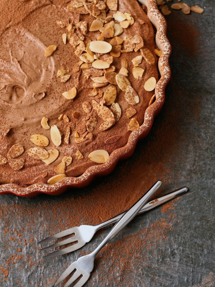 Low carb low sugar chocolate tart