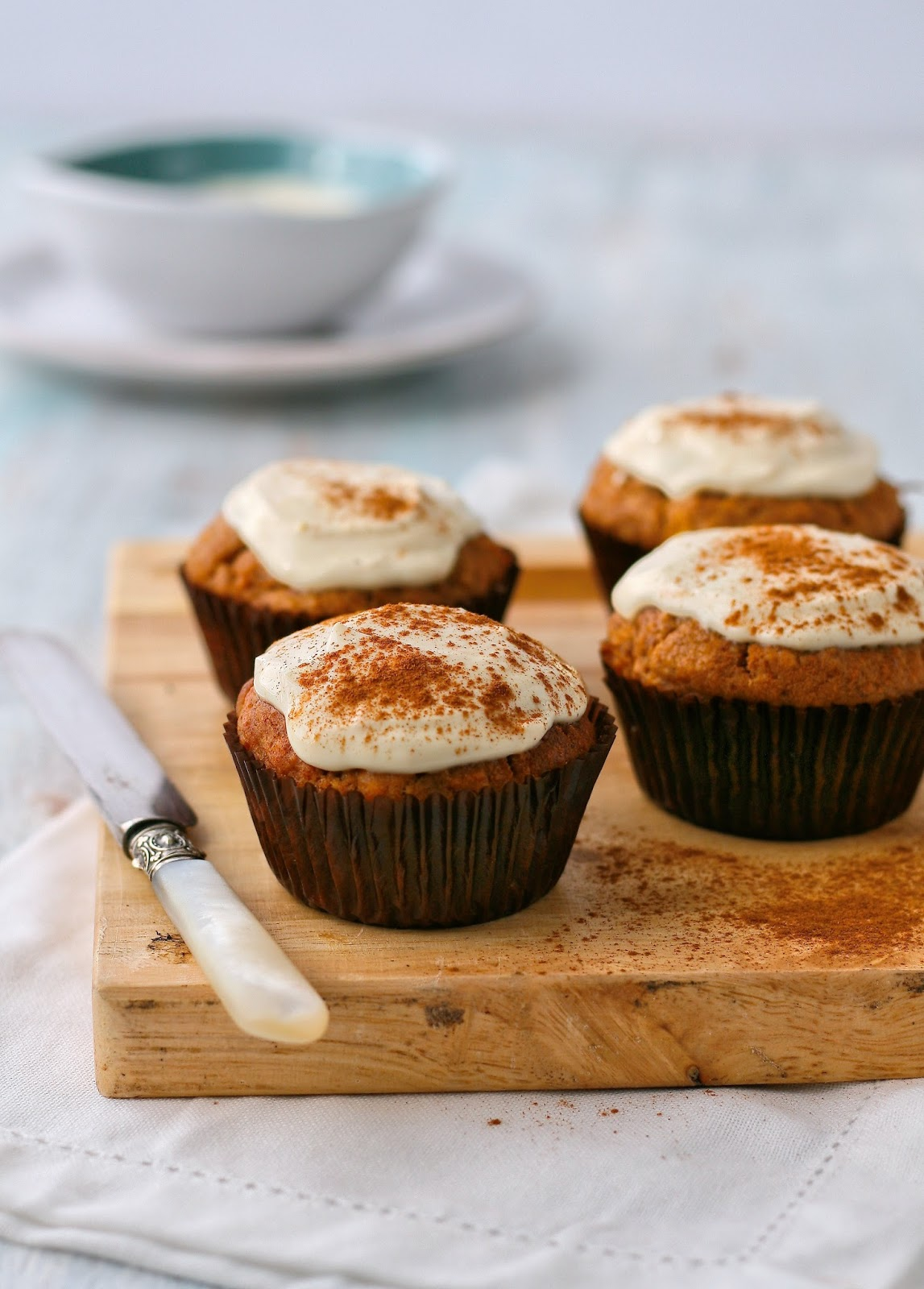 Date, carrot and apple muffins.