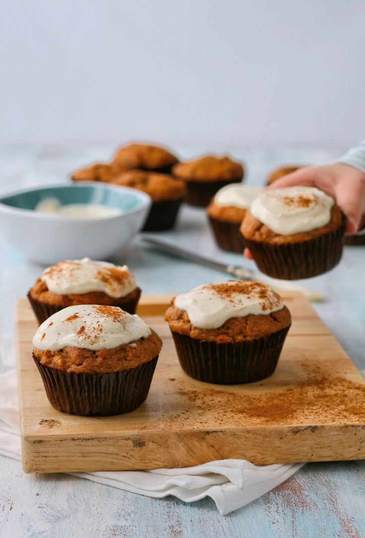 Sugar free date, carrot and apple muffins.