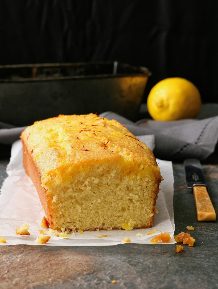 Easy lemon loaf with soaking syrup.