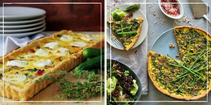 Recipes for savoury tarts.