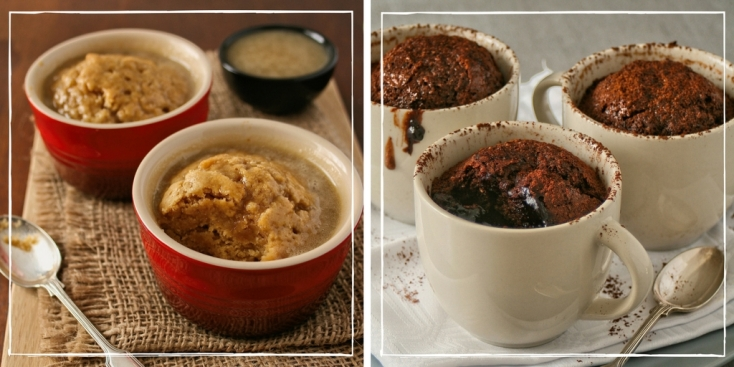 Ginger puddings and chocolate puddings.