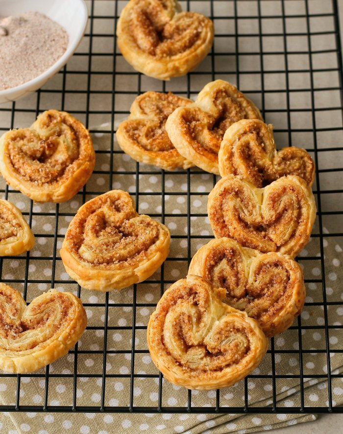 Puff pastry palmiers