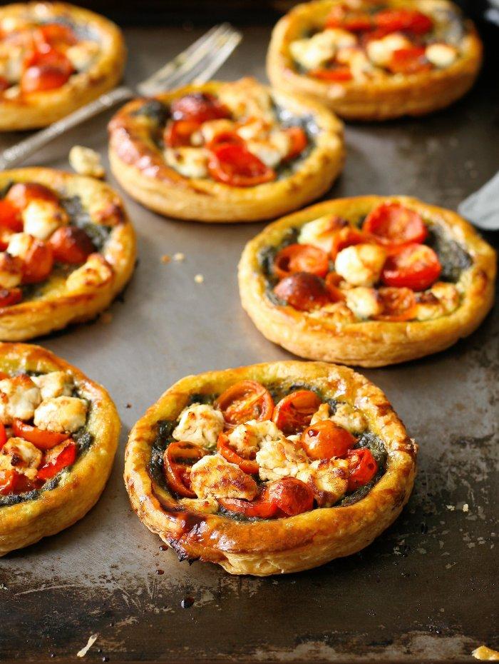 Tomato puff pastry tarts