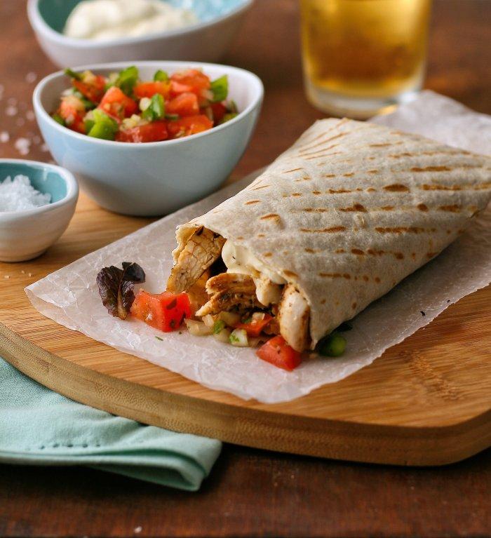 Spicy chicken burrito recipe