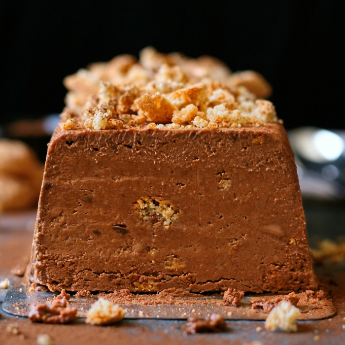 Dark chocolate semifreddo recipe.