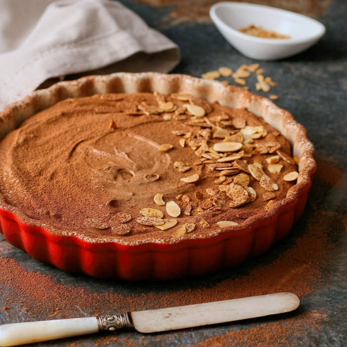 Gluten free chocolate tart.