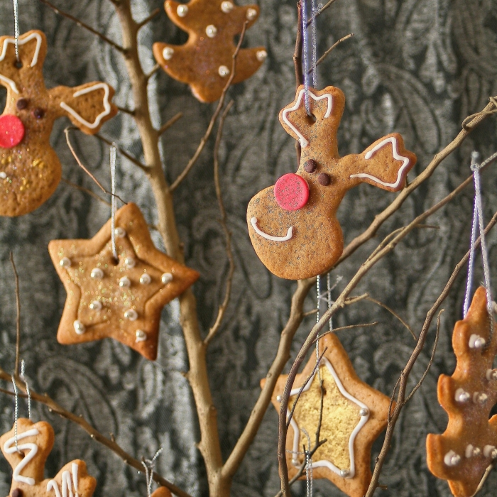 Christmas tree cookie decorations