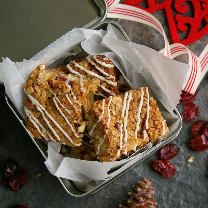 Crunchies recipe with cranberries.