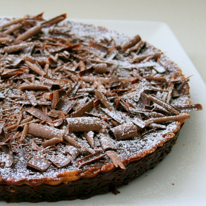 Baked chocolate tart recipe
