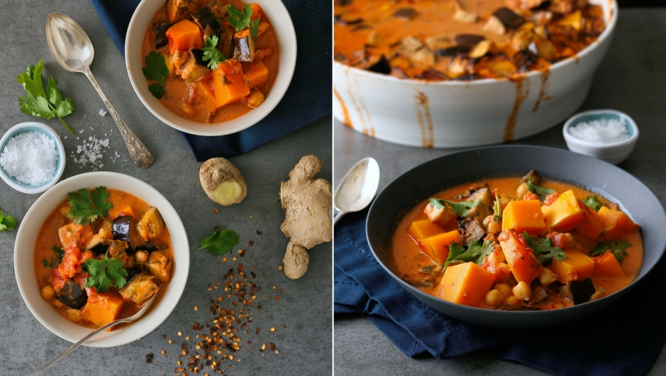 Vegan Thai curry with chickpeas