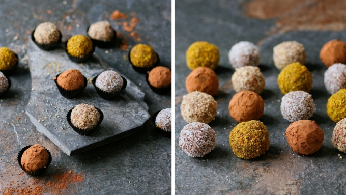 Orange and ginger biscuit truffles