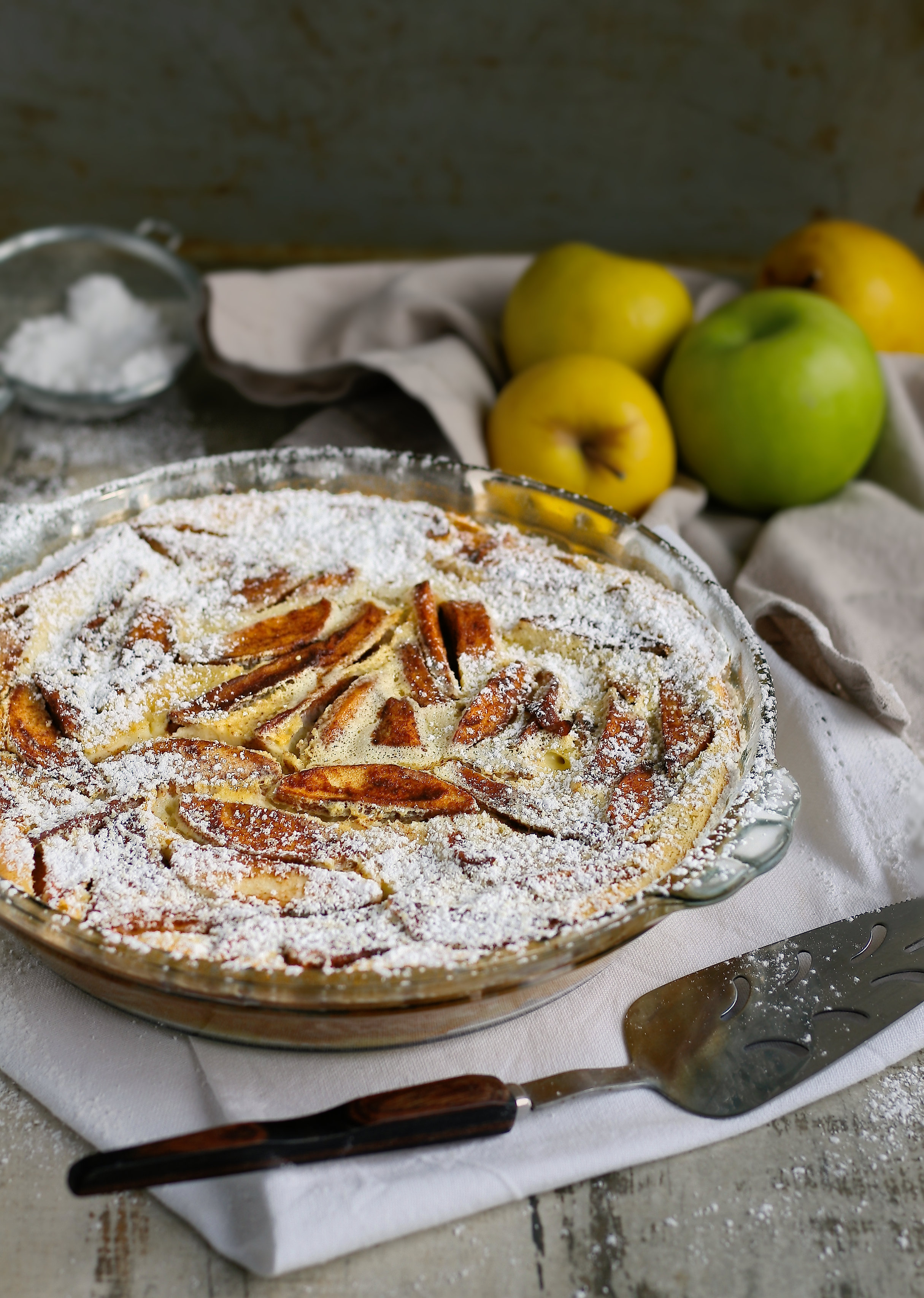 Easy French clafoutis recipe with apples