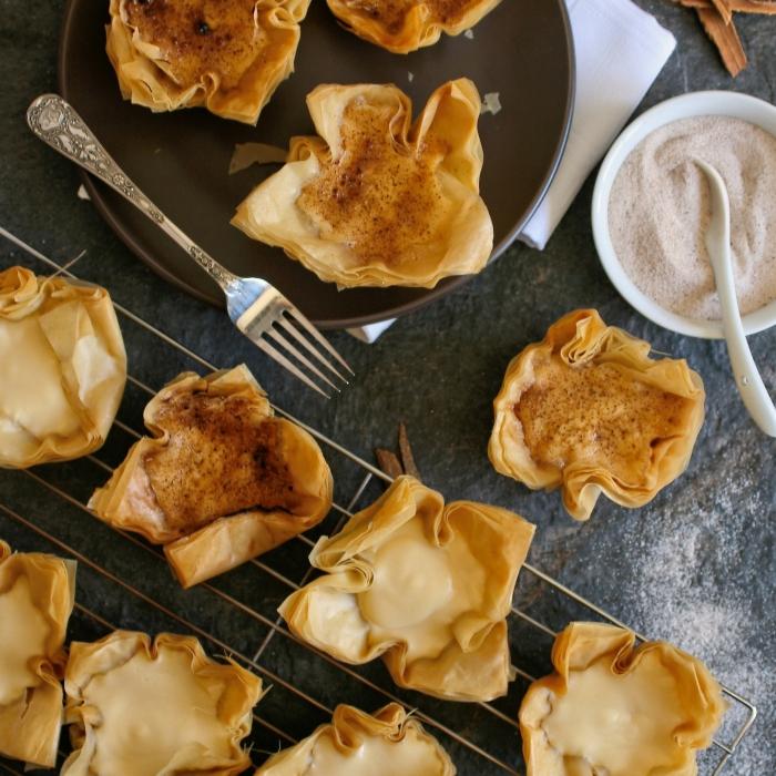 Milk tart recipe with phyllo pastry
