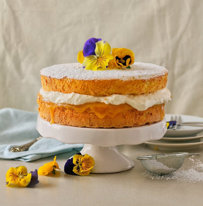 Lemon sponge cake recipe.