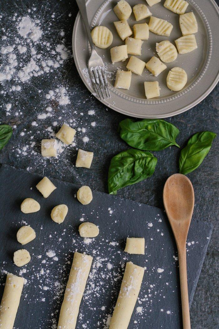 Gnocchi dough dark photography